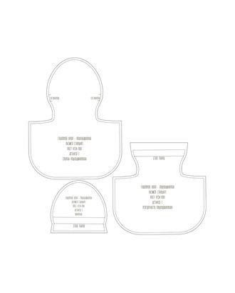 Выкройка: подхиджабник арт. ВКК-2273-1-ВП0091