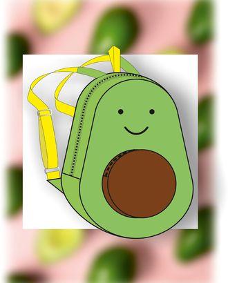Выкройка: рюкзак авокадо В-01 арт. ВКК-2516-1-ВП0286