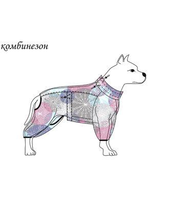 Выкройка: комбинезон Р-02-1003 (для больших собак) арт. ВКК-2562-1-ВП0348