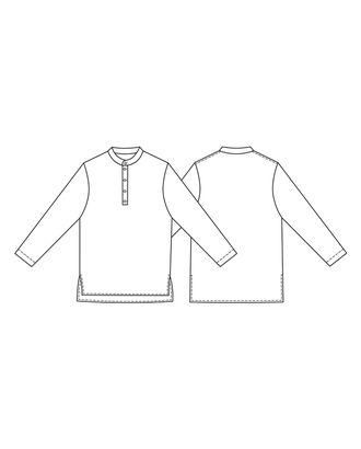 Выкройка: мужская рубашка КАМИС арт. ВКК-2222-1-ВП0079