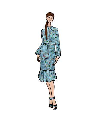 Выкройка: платье-рубашка Катерина арт. ВКК-2509-1-ВП0281