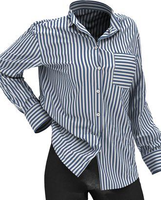 Выкройка: рубашка свободного кроя арт. ВКК-2358-43-ВП0143