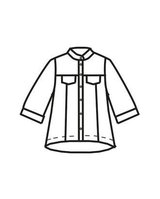 Выкройка: рубашка Ж-1908 арт. ВКК-2315-10-ВП0109
