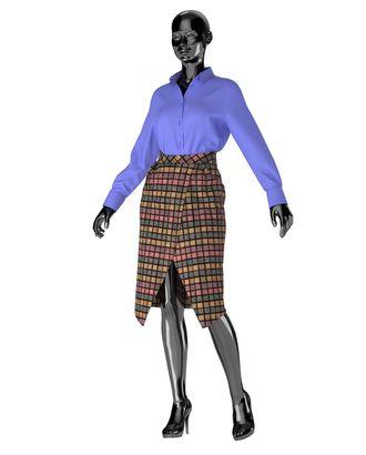 Выкройка: юбка W_027 арт. ВКК-2471-1-ВП0238