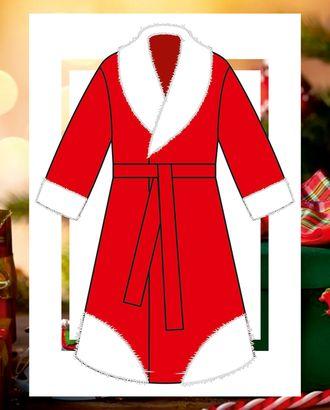 Выкройка: детский тулуп Деда Мороза Ма-01-100 арт. ВКК-2515-1-ВП0284