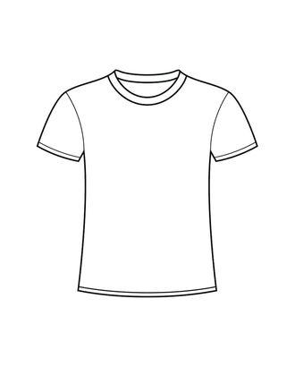 Выкройка: футболка прямая арт. ВКК-2343-1-В00149
