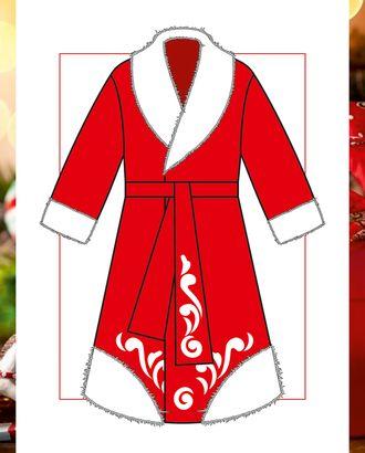 Выкройка: тулуп Деда Мороза М-01-1001 арт. ВКК-2513-1-ВП0283