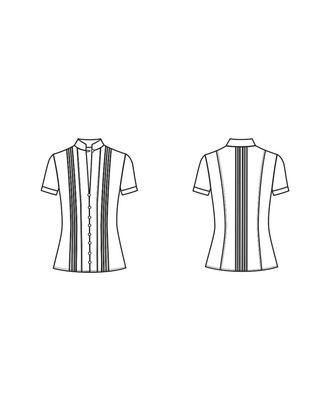 Выкройка блузки № 206 арт. ВКК-131-5-В00084