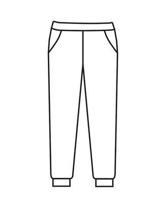 Выкройка: брюки Т-1901 арт. ВКК-2312-10-ВП0102