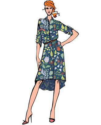 Выкройка: платье-рубашка SST-005 арт. ВКК-2382-1-ВП0157