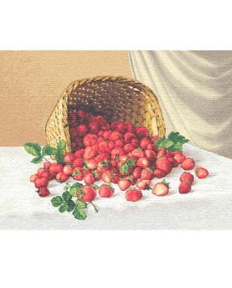 Корзинка с клубникой (купон гобеленовый) арт. КГ-38-1-1614.031