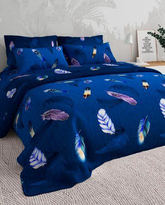 Перья синие (Бязь 220 см) арт. ХБ-759-1-1084.011