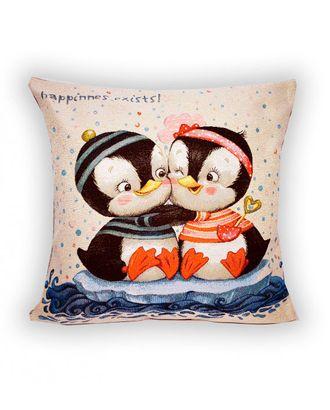 """Наволочка """"Пингвинята на льдине"""", 45х45 арт. СГН-137-1-1608.044"""
