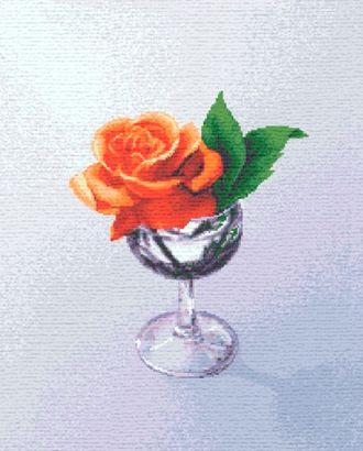 Роза в бокале (купон гобеленовый) арт. КГ-46-1-1614.039