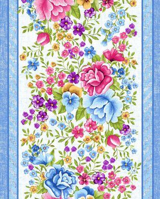 Цветочная вышивка (Полотно вафельное 50 см) арт. ПВ50-205-1-0989.101