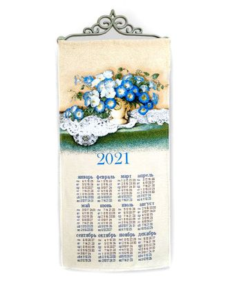"""Календарь из гобелена """"Букет"""" арт. КЛНД-19-1-1612.006"""