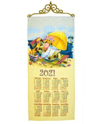 """Календарь из гобелена """"Жаркое лето"""" арт. КЛНД-20-1-1612.007"""