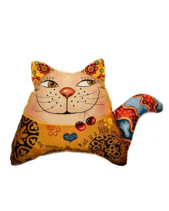 Кот волна (гобеленовая подушка) арт. СИПИ-18-1-1613.011