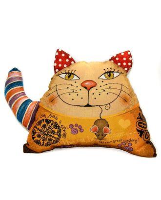 Кот полоска (гобеленовая подушка) арт. СИПИ-19-1-1613.012