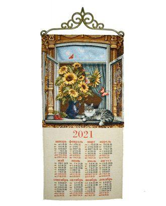 """Календарь из гобелена """"Окно Шишкин Е."""" арт. КЛНД-21-1-1612.008"""