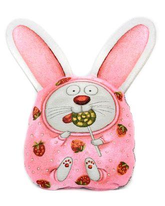 Розовый заяц (гобеленовая подушка) арт. СИПИ-21-1-1613.014