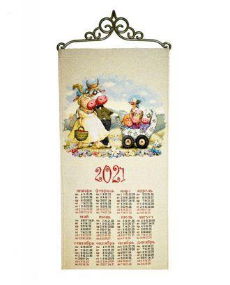 """Календарь из гобелена """"Счастливая семья"""" арт. КЛНД-23-1-1612.010"""