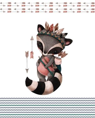 Охотники енот (купон 112х150) арт. ПРКГ-48-1-1350.009