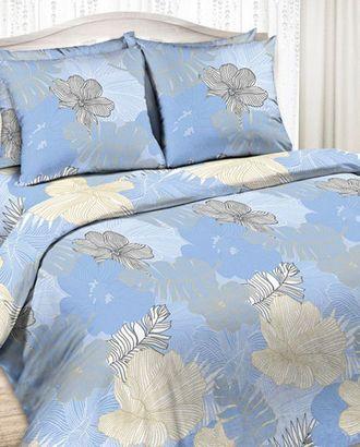 Цветы голубой (Бязь КПБ 2сп.) арт. КПБВ-327-1-1572.003