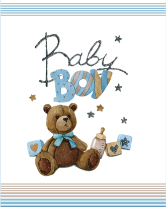 BABY BOY (купон 112х150) арт. ПРКГ-49-1-1350.011