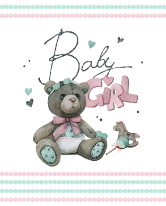 BABY GIRL (купон 112х150) арт. ПРКГ-50-1-1350.012