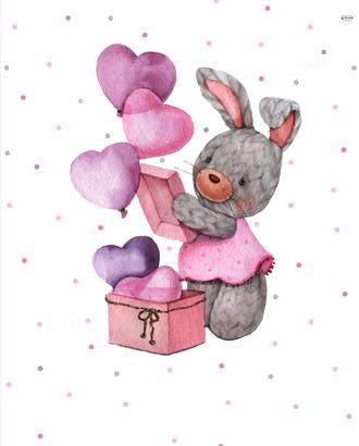 Зайка-модница с шариками (купон 112х150) арт. ПРКГ-51-1-1350.013