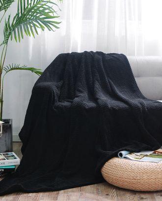 Черный (Плед Велсофт Евро) арт. ПВЕ-132-1-1195.001
