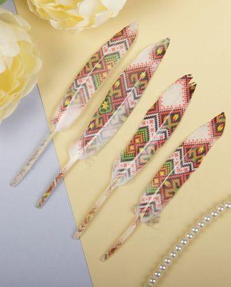 Набор перьев для декора 4шт. арт. ДТВП-19-1-36320