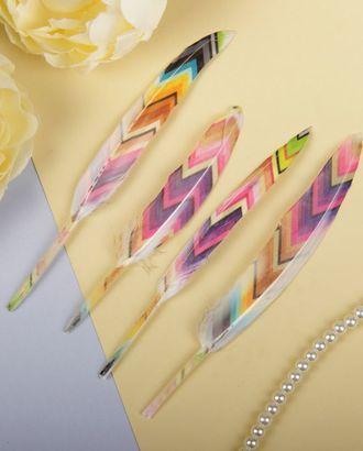 Набор перьев для декора 4шт. арт. ДТВП-20-1-36321