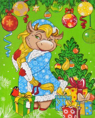 """""""Снегурка с подарками"""" полотенце вафельное 45*60 арт. ПВ-36-1-1660.038"""