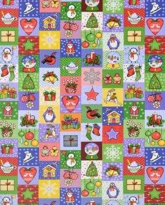Новогодняя мозайка (Полотно вафельное) арт. ПВ150-165-1-0895.041