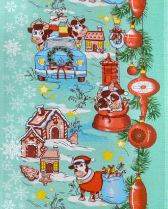 Новогоднее путешествие (Полотно вафельное 50 см) арт. ПВ50-199-1-0989.095
