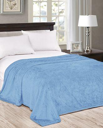 Голубая полоса (Плед Велсофт 2 сп) арт. ПВ2-101-1-1194.009