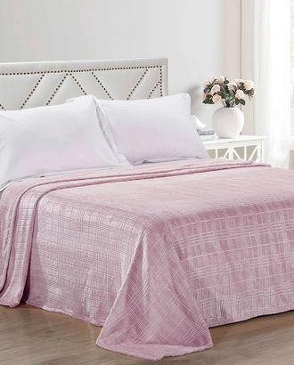 Клетка на розовом фоне (Плед Велсофт Евро) арт. ПВЕ-125-1-1195.011