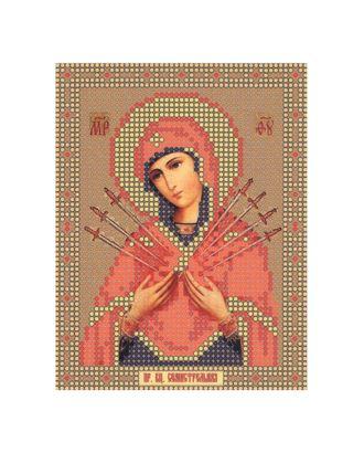 """Рис. на ткани """"Богородица Семистрельная"""" арт. ПВБ-88-1-16446"""