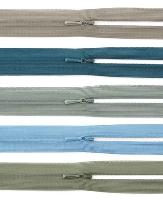 Молния потайная ассорти Т0 20см арт. ПТМО-28-12-2707.168
