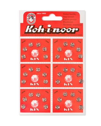 Кнопки KOH-I-NOOR №0 (д.6мм) арт. КНП-13-1-18137