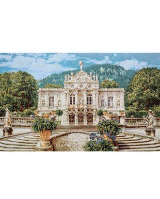 Белый замок Линдерхоф (купон гобеленовый) арт. КГ-9-1-1614.001