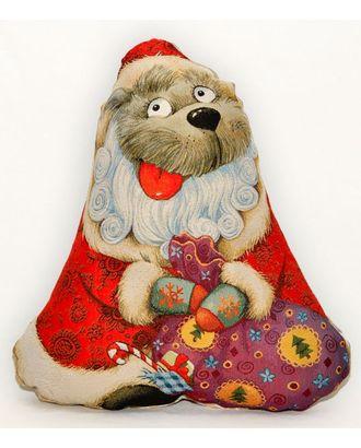 Дед Мороз (гобеленовая подушка) год собаки арт. СИПИ-9-1-1613.002