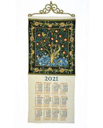 """Календарь из гобелена """"2021 Дятел У. Моррис"""" арт. КЛНД-15-1-1612.002"""