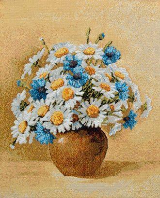 Букет васильки и ромашки (купон гобеленовый) арт. КГ-10-1-1614.002