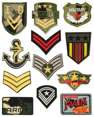 Набор аппликаций милитари арт. АНС-81-1-32971