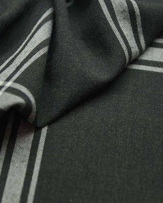 Костюмная-плательная ткань в клетку черно-бежевого цвета арт. ГТ-2658-1-ГТ0047439