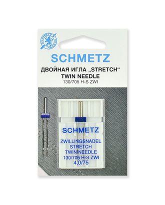 Иглы стрейч двойные №75/4,0, Schmetz арт. ИБС-1-1-37088