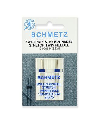 Иглы стрейч двойные №75/2,5, Schmetz арт. ИБС-4-1-37097